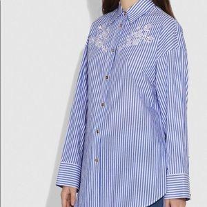 Coach 1941 Embroidered Long Sleeve Shirt sz 0